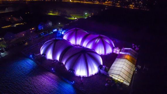 Large Temporary Inflatable Structures